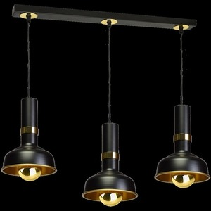 Hanging lamp Margo Black / Gold 3x E27 small 8
