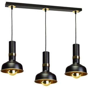 Hanging lamp Margo Black / Gold 3x E27 small 0