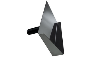 An old brick tool / tray for grouting clinker 2in1 stainless steel small 2