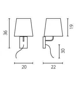 BELL LED wall lamp small 2