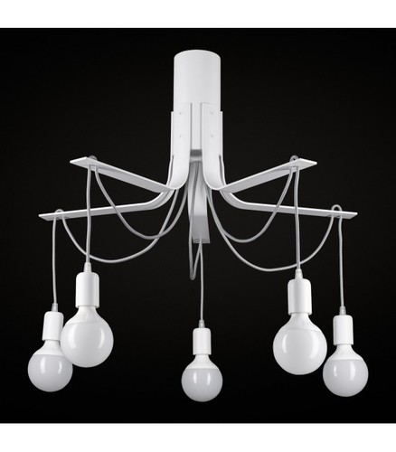 BORNHOLM Small white ceiling lamp