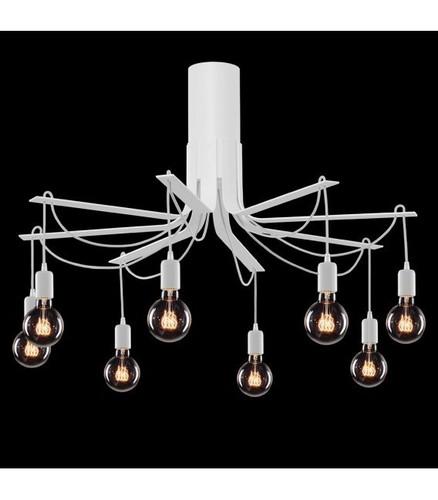 BORNHOLM Large white ceiling lamp
