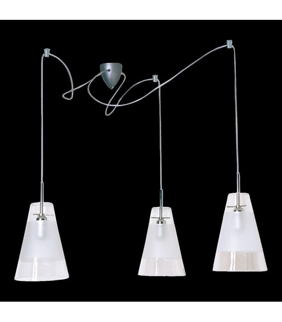 BELL Small chandelier W-3 semi-matt