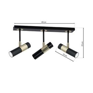 Hanging lamp Dallas Gold 3x Gu10 Strip small 6