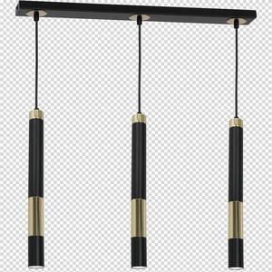 Hanging lamp Dallas Gold 3x Gu10 Strip small 7