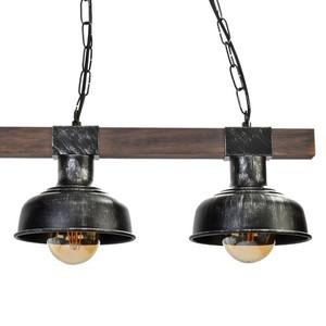Hanging lamp Faro Black / Wood 3x E27 60 W small 4