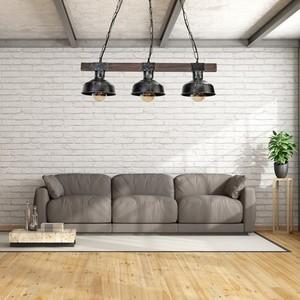 Hanging lamp Faro Black / Wood 3x E27 60 W small 6
