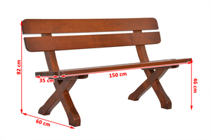 Wooden bench 150 cm small 1