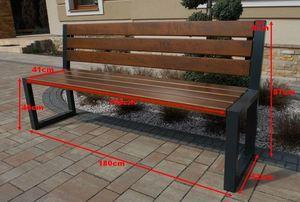 Modern Garden Bench with a Backrest small 2