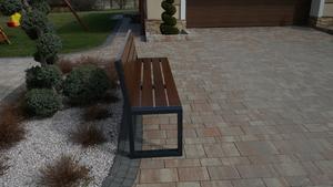 Modern Garden Bench with a Backrest small 0
