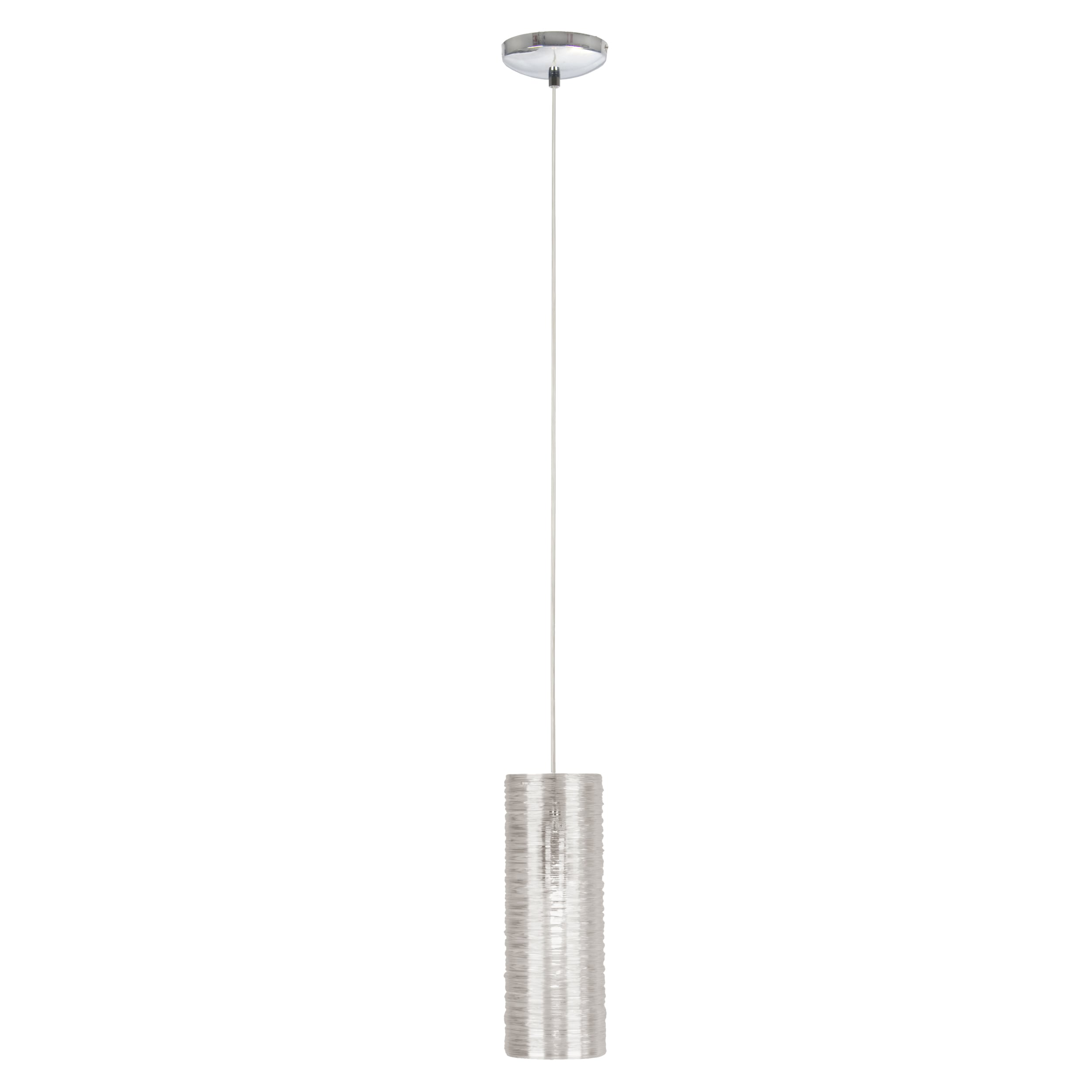 Hanging lamp Bormio 1 transparent lampshade