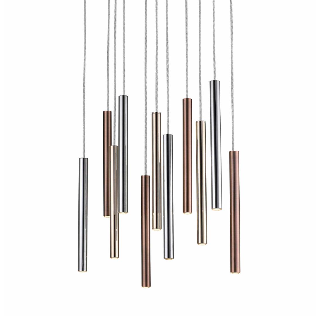 P0461 11 A B5 Sc Loya Pendant Lamp Chrome + Gold + Copper