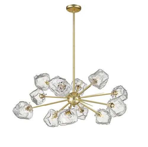 P0488 12P U8 Ac Rock Pendant Lamp Gold / Matt Gold