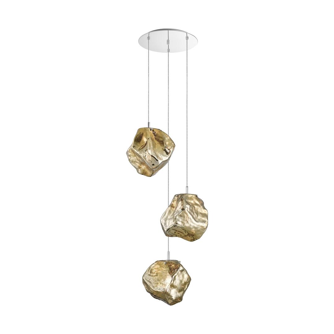 P0488 03 A B5 Hf Rock Pendant Lamp Gold / Gold