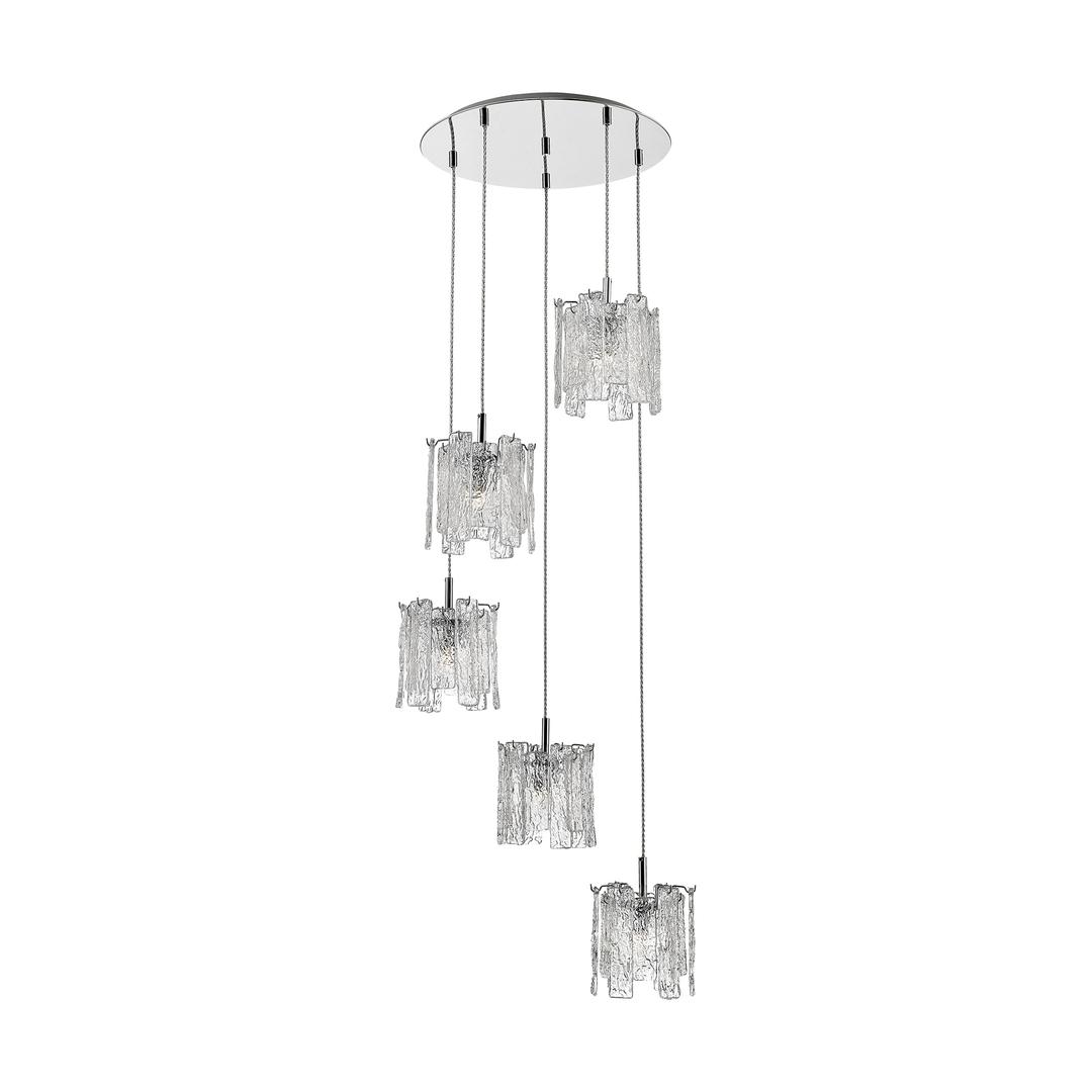 P0509 05 D B5 Ac Froze Pendant Lamp Clear