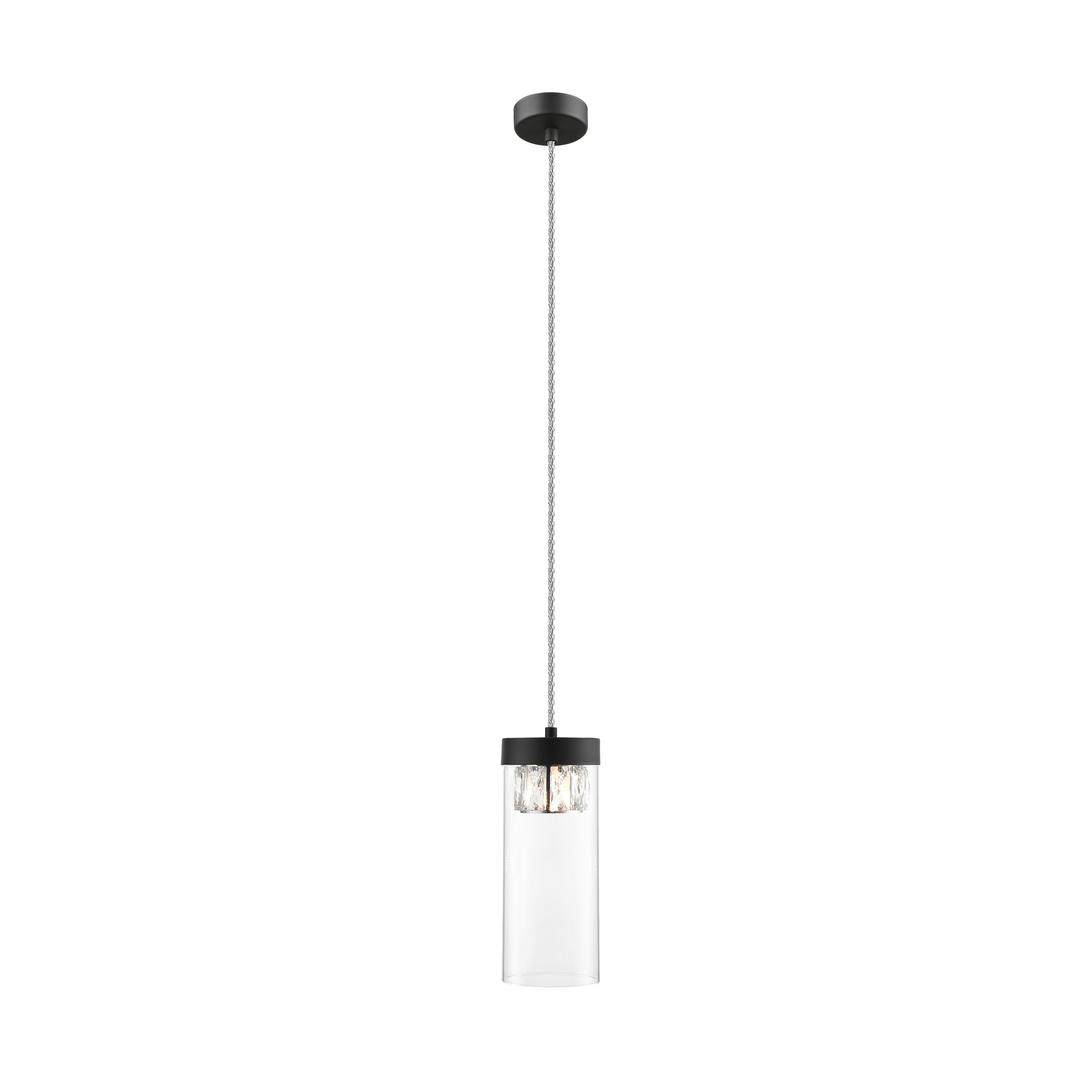 P0389 01 D P7 Ac Gem Pendant Lamp Matte Black / Matt Black