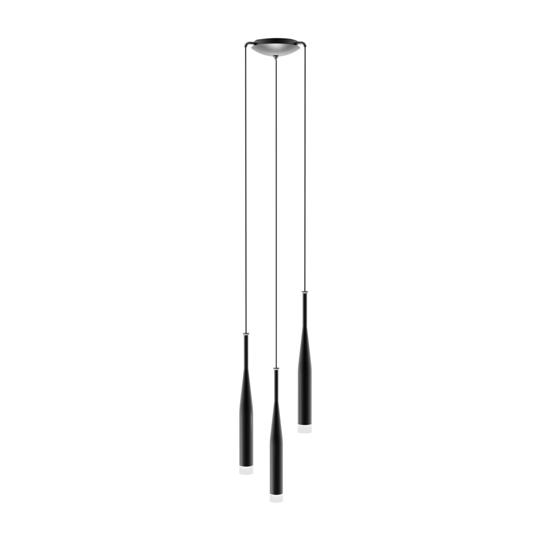 Md1998 A 3 Bl Conte Pendant Lamp Black White / Black White