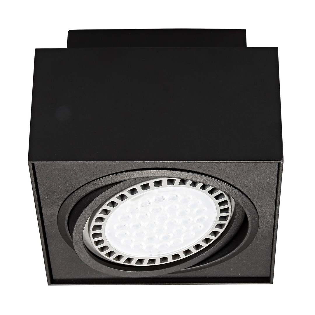 20074 Bk Boxy Cl 1 Spot Black / Black