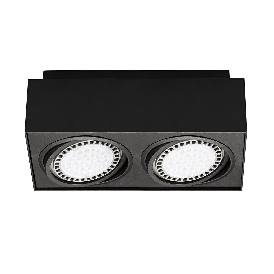 20075 Bk Boxy Cl 2 Spot Black / Black