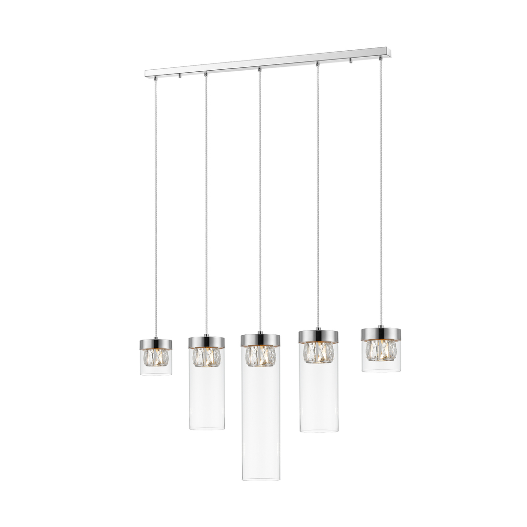 P0389 05 E F4 Ac (B5 Ac) Gem Pendant Lamp Chrome