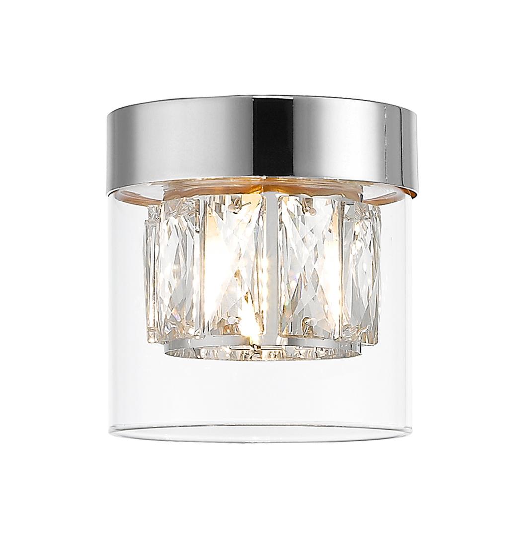C0389 01 A F4 Ac Gem Chrome Ceiling Lamp