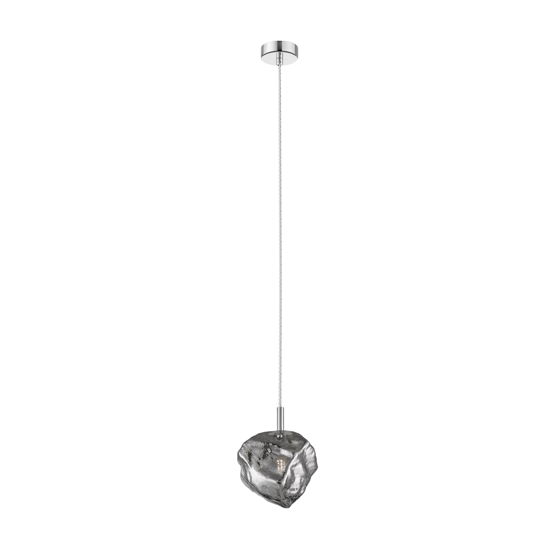 P0488 01 F F4 Fz Rock Pendant Lamp Chrome