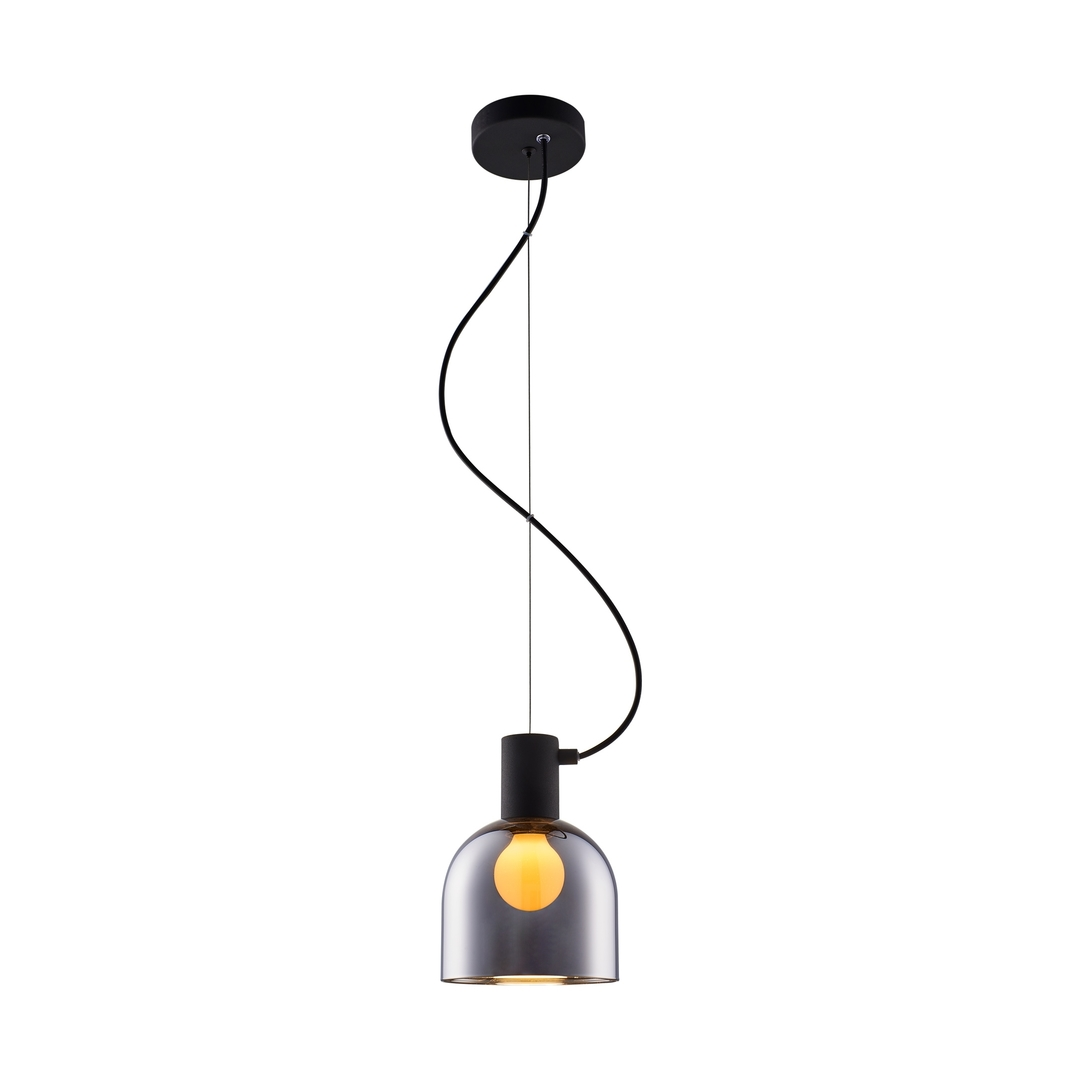 Md1918 1 S Chrome Lazaro Pendant Black / Black