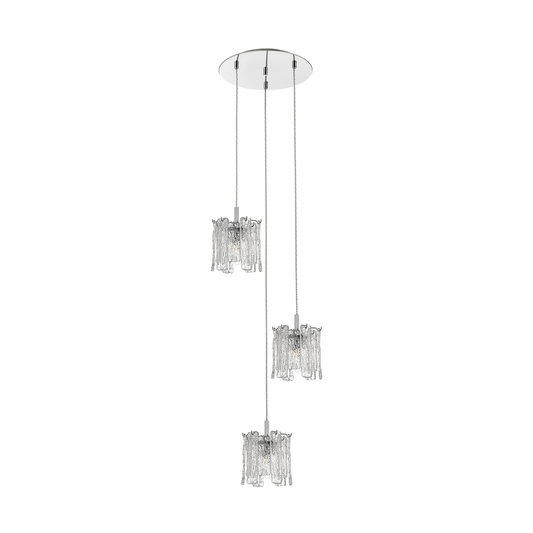P0509 03D B5 Ac Froze Pendant Lamp Clear