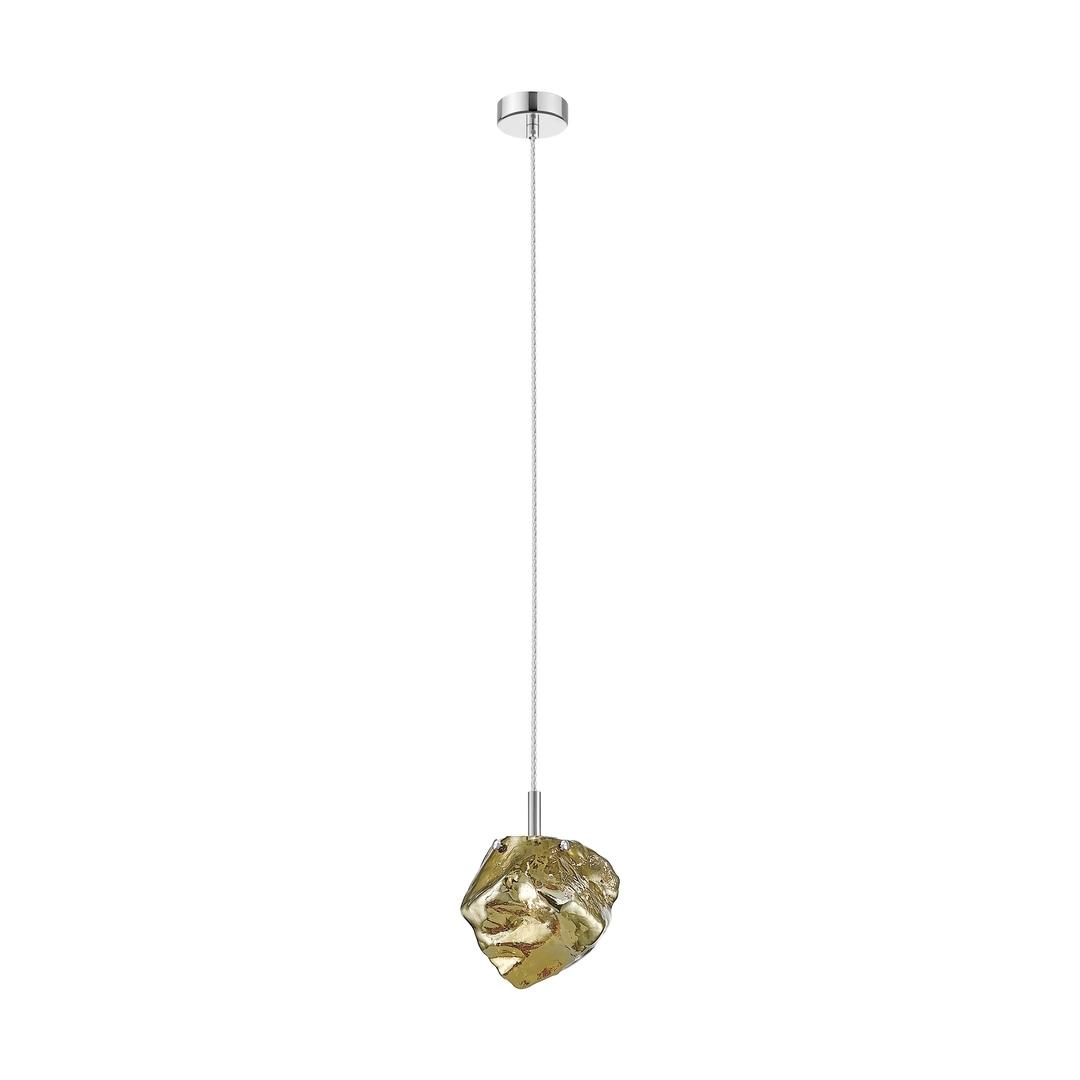 P0488 01 F F4 Hf Rock Pendant Lamp Gold / Gold