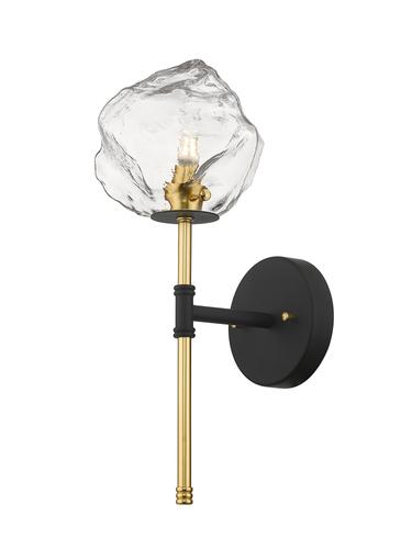 W0488 01 D Seac Rock Wall Lamp Black + Gold / Matt Black + Matt Gold