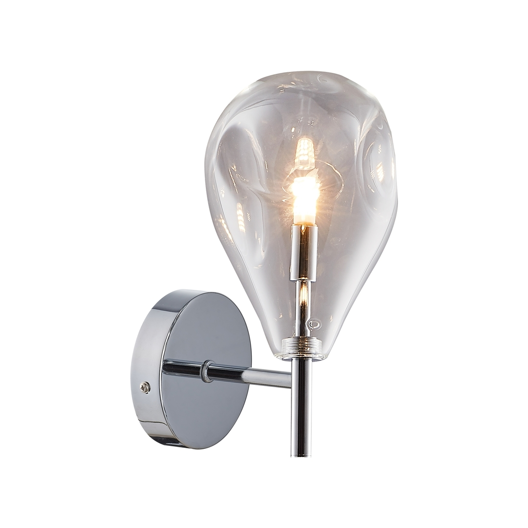 Mb1921 1 Clear Bastoni Wall Lamp Chrome