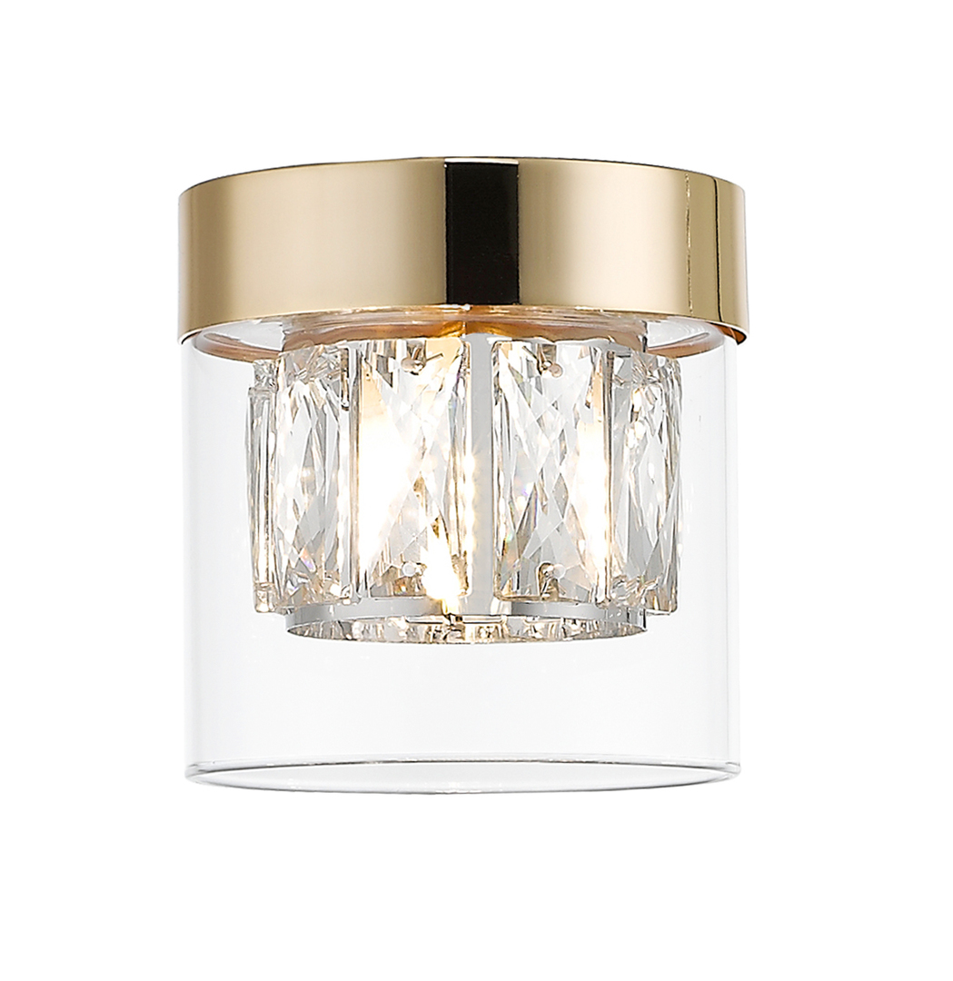 C0389 01 A F7 Ac Gem Ceiling Lamp Gold / Gold