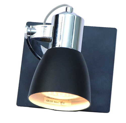 A modern single Ravenna wall lamp 1 black