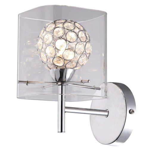 Modern sconce Spark Transparent lampshade