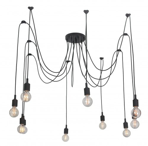 Hanging lamp Soleto Spider 10 shoulder Loft