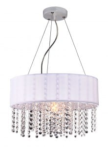 Madrid lamp hanging white Glamor diamonds small 0