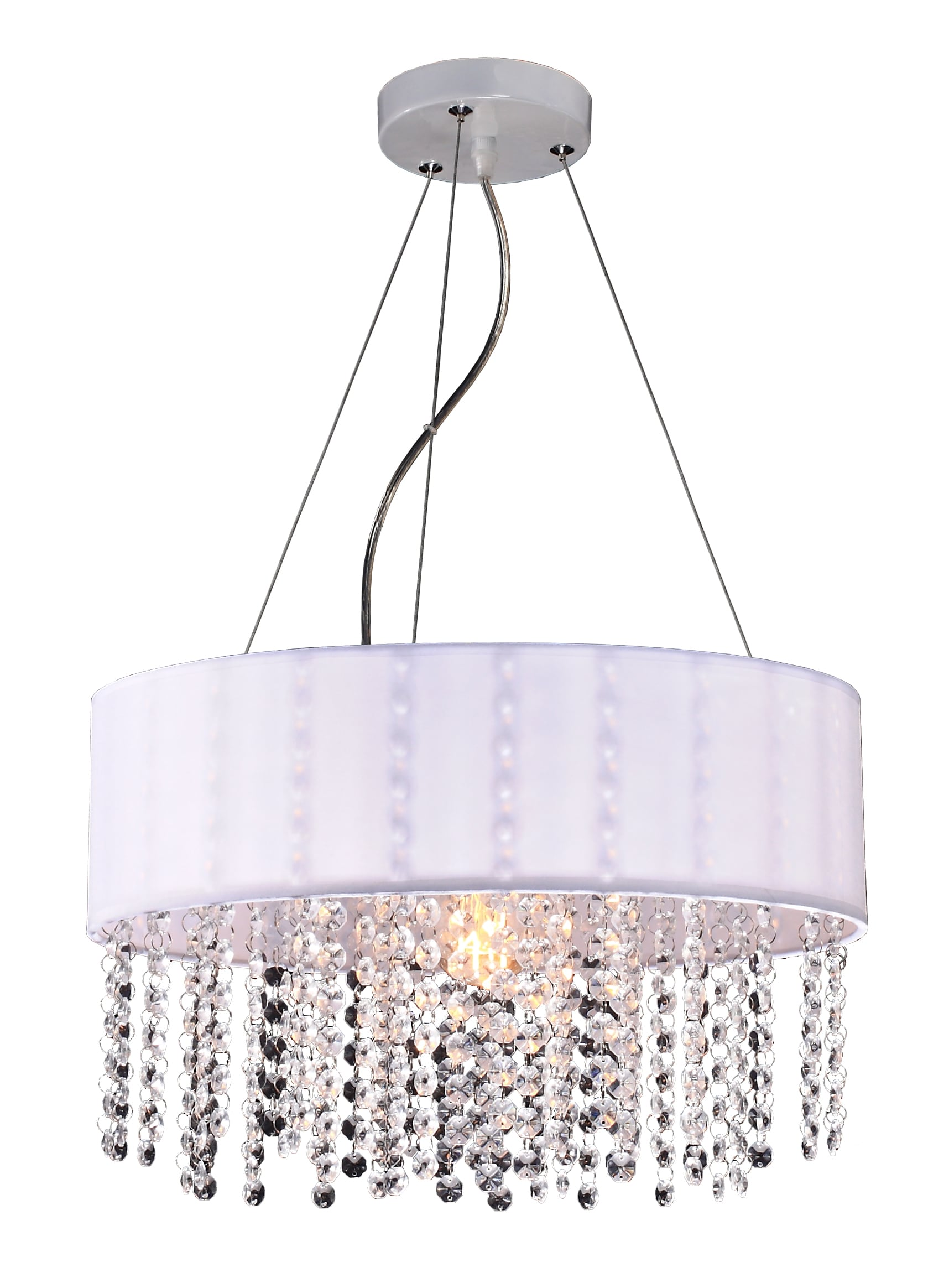 Madrid lamp hanging white Glamor diamonds