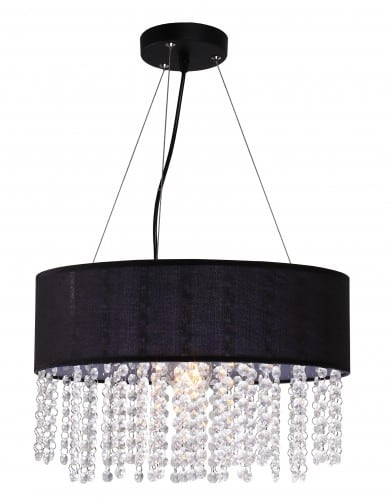 Madrid lamp hanging black Glamor diamonds