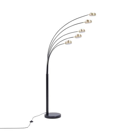 Ts 5805 Bkbb Zodiac Floor Lamp Black