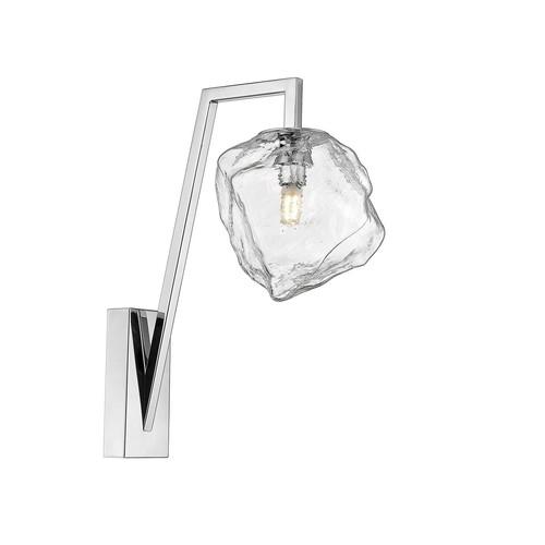 W0488 01 E F4 Ac Rock Wall Lamp Chrome