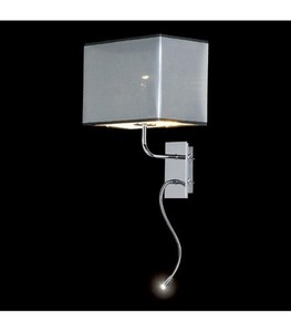 LED wall lamp chrome small 0