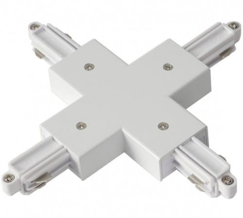 "Cross ""+"" white connector for 4x busbars"