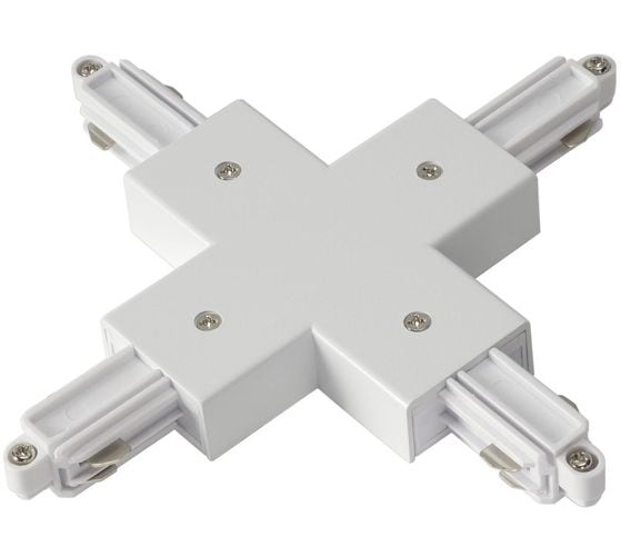 """Cross """"+"""" white connector for 4x busbars"""