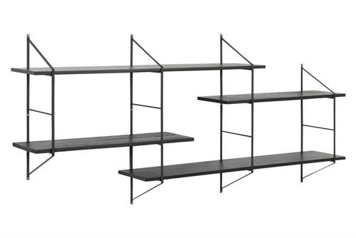 ACTONA BELFAST 2 shelf system black