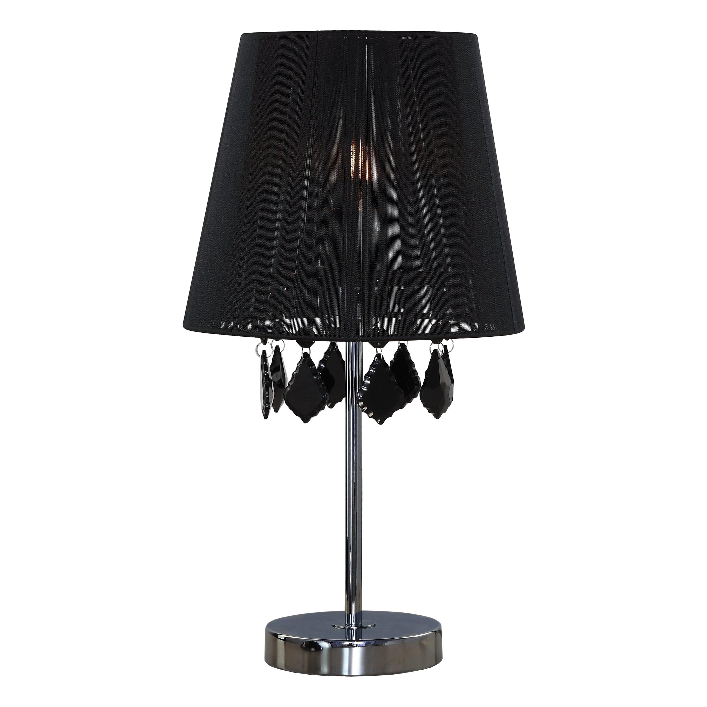 Desk lamp Black small Glamor with diamonds