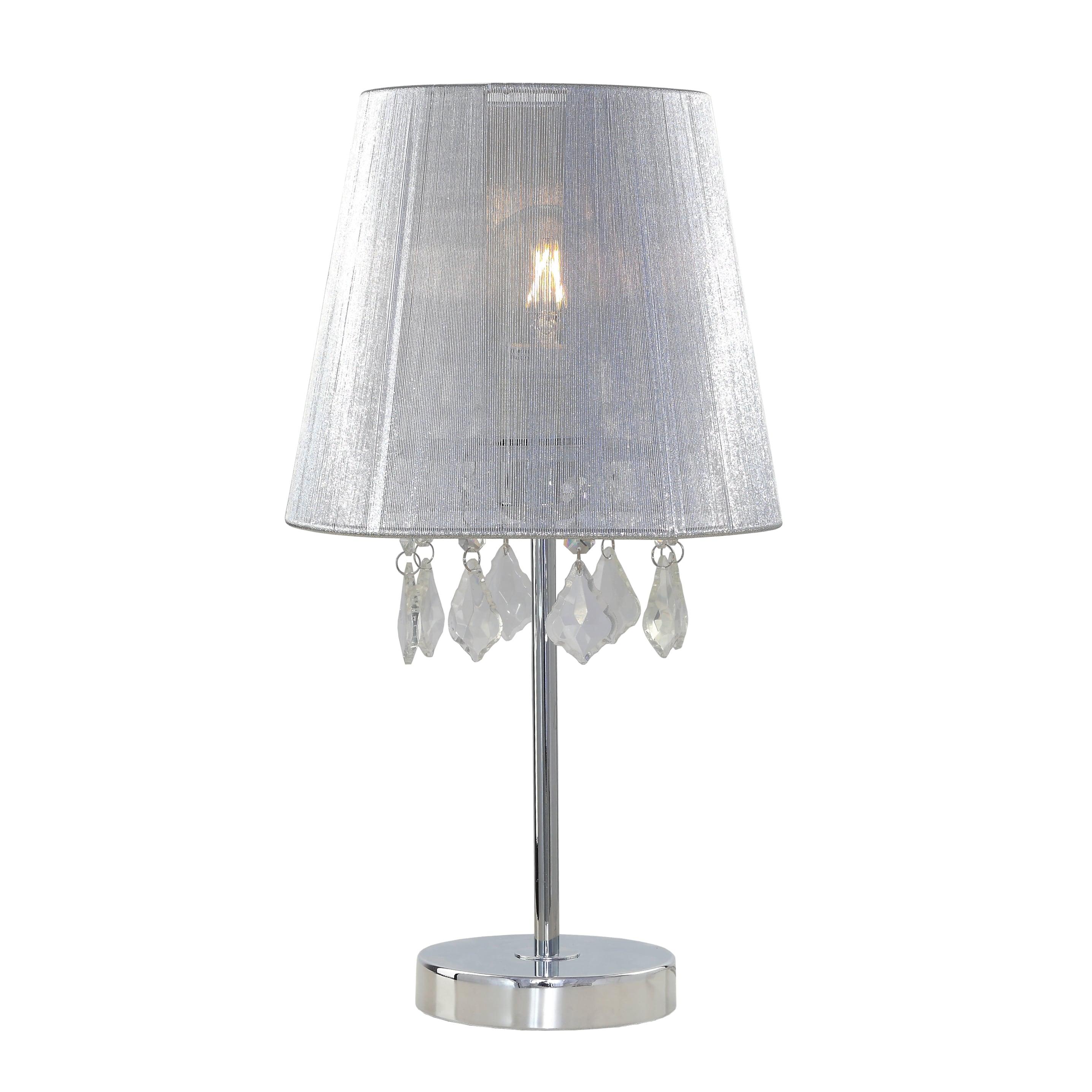 Desk lamp small bright Glamor with diamonds