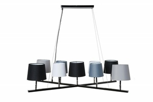 INVICTA hanging lamp LEVELS 2 - gray-black-white small 0