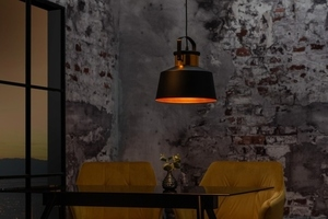 INVICTA pendant lamp LUZ I - 28 cm black and gold small 3