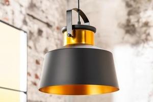 INVICTA pendant lamp LUZ I - 28 cm black and gold small 5
