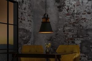 INVICTA pendant lamp LUZ II - 25 cm black and gold small 4